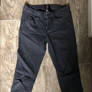 just black indigo denim jeans size 24
